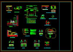 دانلود نقشه دوم دیتیل و جزییات اجرایی تاسیسات برق ساختمان نحوه نصب سینی ، چراغ، کلید، پریز و...